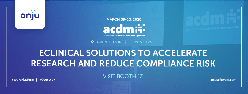 ACDM20 Dublin: eClinical Solutions to Accelerate Research and Reduce Compliance Risk